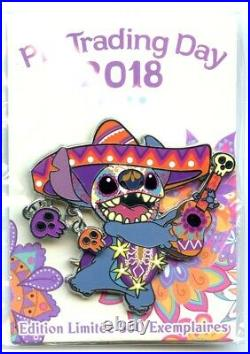 Disneyland Paris Pin Trading Day Día de los Muertos Stitch Pin