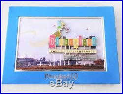 Disneyland Park 60th Anniversary Jumbo Marquee Tinkerbell Matted LE 1000 Pin