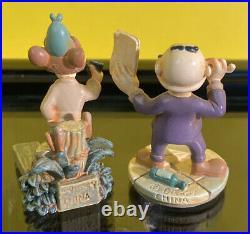 Disneyland Park The Adventures Of Ichabod & Mr Toad Pewter Miniature Set
