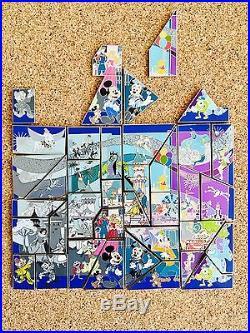 Disneyland Resort Diamond 60 Anniversary Mystery Puzzle Pin Set Limited Edition