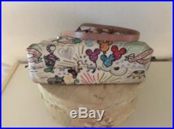Dooney & Bourke Disney Theme Parks Sketch Tassle Tote Satchel Purse Crossbody