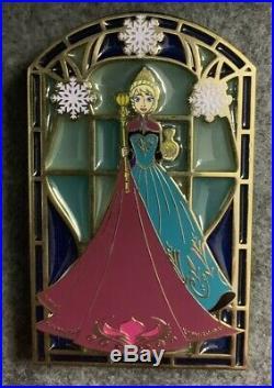 Elsa Stained Glass Coronation Disney Fantasy Pin LE /100 Limited HTF Frozen Rare