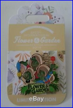 Epcot Flower and Garden Festival 2018 Complete 15 Pin Set Passholder Disney Pin