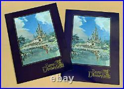Euro Disneyland 1987 Press Kit France Disney Theme Park Agreement Announcement