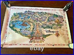 Euro Disneyland CARTE PLAN Map Paris ROLLED PROOF RARE 1992 SIGNED Eddie Sotto