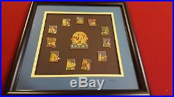 FRAMED SET Disney Epcot 15th Anniversary Pins Limited edition COA NUMBER 9