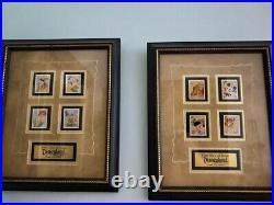Five (5) Disney Pin Framed Sets Rare & LE 500 Disneyland, Mickey Pluto, Resort