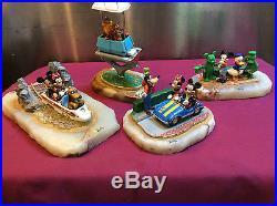 Four (4) Disney, Ron Lee, Theme Park Ride Vehicles, signed and numbered