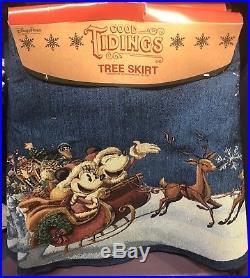 Good Tidings Mickey & Minnie Tree Skirt Christmas Holidays Disney Theme Parks