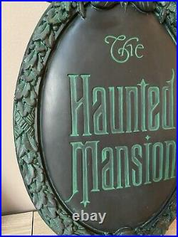 Haunted Mansion Gate Plaque Full-Size Replica Art of Disney Theme Parks