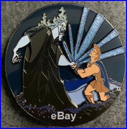 Hercules and Hades Deal 3D Disney Fantasy Pin Jumbo Glitter Pin on Pin POP
