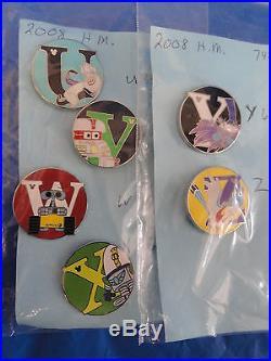 Hidden Mickey Set Of All A To Z Alphabet Pins (26 Pcs) Walt Disney World