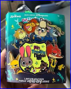 Hkdl Hong Kong Disneyland Disney zootopia pin Nick Judy Flash Jumbo LE400