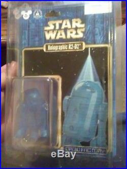 Holographic R2 D2 Disney Build A Droid Factory Star Wars theme park exclusive