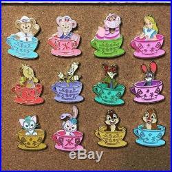 Hong Kong Disney pin HKDL 2017 Mad Hatter Tea Cups Pin RARE set of 12