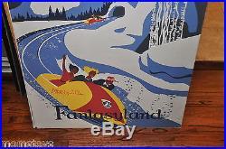 Imagineering Martyhorn Marty Sklar Matterhorn Bobsled Retirement Poster Board