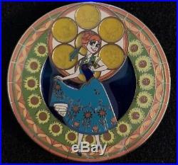 Kingdom Hearts Anna Fantasy Pin LE 32/100 HTF VHTF Disney Stained Glass Frozen