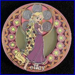 Kingdom Hearts Rapunzel Fantasy Pin HTF Disney Stained Glass Tangled Princess