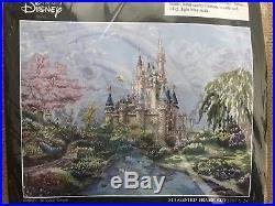 Kinkade Disney Castle Cross Stitch Authentic Disney Theme Park Kit