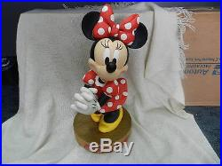LARGE RARE RETIRED Disney Theme Parks Exclusive Minnie Mouse Statue #1581