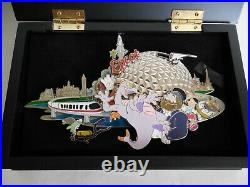 LE 1000 Epcot Park Super Jumbo Pin Figment Monorail Spaceship Earth Disney World