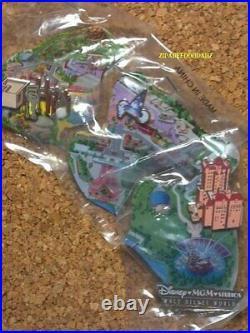 LE Disney Pin Set Cast Atlas MGM Movie Studios Map Set Sorcerer's Hat ToT Jumbo