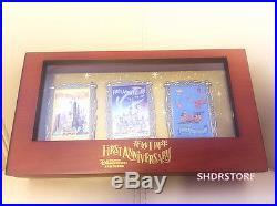 Le 500 Disney Pin 3pins Poster First Anniversary Shanghai Disneyland Disney Park