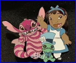 Lilo Stitch Scrump Disney Fantasy Pin LE /75 Alice in Wonderland Cheshire HTF