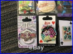 Lot of Disney's Alice in Wonderland Themed Pins