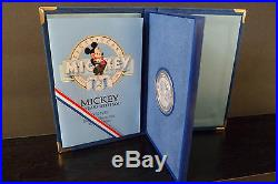 MICKEY 60 YEARS WITH YOU Exclusive Theme Park. 999 Silver Proof Coin Disney