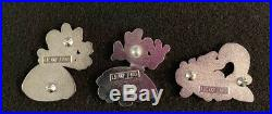 Minnie Mouse Disney 3 Fantasy Pin Set LE 7/50 Complete Alice in Wonderland HTF