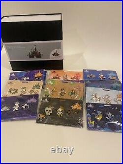 Minnie Mouse Main Attraction Pins Complete Series all 12 Sets Album Starter Pin