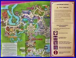 NEW 2021 Walt Disney World Theme Park Guide Maps -7 Current Maps + RARE Bonus