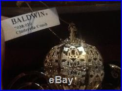 New Disney Theme Parks & Resorts Cinderella Coach 24kt Gold Finish Baldwin