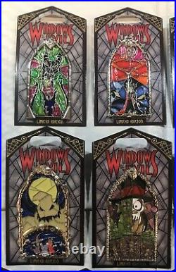 NEW Disney Windows of Evil Pin Set Limited LE Villain Disneyland DLR Complete
