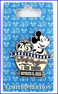 NEW Disney World Magic Kingdom 45th Anniversary I WAS THERE Mickey Trading Pin