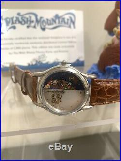 NEW RARE Disney World Theme Parks LE Splash Mountain Watch & Figurine Brer Fox