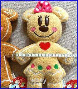 NEW TOKYO Disney Resort Gingerbread Mickey & Minnie Set2 Plush Doll Ginger 2010