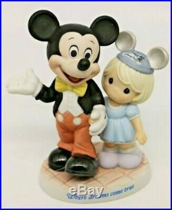 NIB Precious Moments WHERE DREAMS COME TRUE, 790010 Disney Theme Park Exclusive