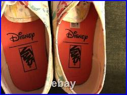NWOT VANS x Disney Mens 9 Womens 10.5 Little Mermaid Ariel Sneakers Shoes