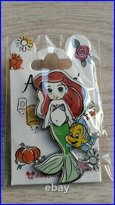 New 2020 Dlp Animator Dolls Child Disney Land Paris 8 Pins Set (Belle Rapunzel)