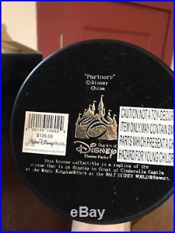 New Disney Bronze Partners Replica Statue Walt Mickey Box Cinderella Castle