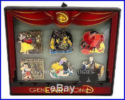New Disney Genearation D SCARIEST MOMENTS BOXED SET 6 Pins LE 300 Ariel