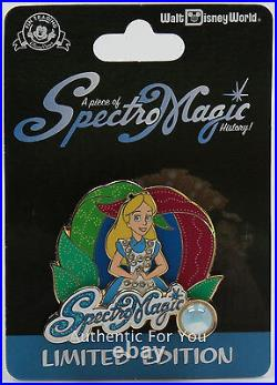 New SpectroMagic Parade Piece Disney History Alice Wonderland Trading Pin LE1000