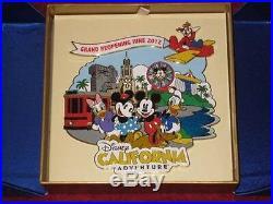 Nib New Mint Disney California Adventure Grand Reopening June 2012 Jumbo Pin Le