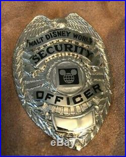 Obsolete Walt Disney World Security Badge & Hat Badge