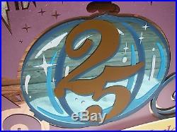 Original 1996 Walt Disney World 25th Anniversary Castle Theme Park Sign Prop