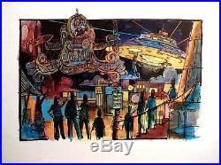 Original Theme Park Concept Art Six Flags Power Plant Carnival Disney Imagineer
