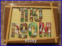 Pin Enchanted Tiki Room 50th Anniversary Letters Pin Set of 8 New in box! DLR