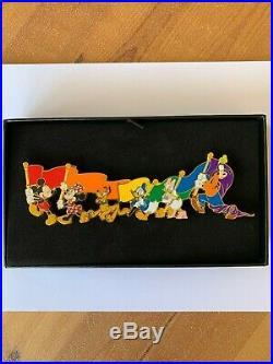 Pin Pins Disney Paris DLP JUMBO RAINBOW FLAG RARE LE 400 SOLD OUT
